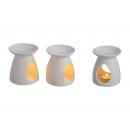 Großhandel Duftlampen: Duftlampe weiß aus Porzellan, 2-fach sortiert, 12