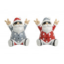 Santa Claus made of ceramic, 2 times assorted , B1