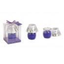 Szél könnyű üveg lámpa illatos viasz, B7 x T9 cm
