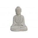 Buddha seduto in grigio dei poli, 13 cm