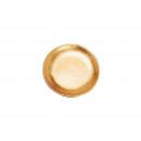 piatti argilla, smaltato in oro, 11 cm