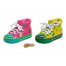 Money box Flamingo shoes, pineapple ceramic decor