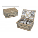wholesale Outdoor & Camping: Picnic basket for 4 persons from pasture, 24-piece