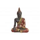 Buddha Poli 32x21x47cm fekete / piros / arany
