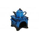 Großhandel Duftlampen: Duftlampe aus Keramik, Herd mit Kanne in blau, B10