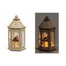 wholesale Wind Lights & Lanterns: Winterscenes Lantern with lighting in wood, ...