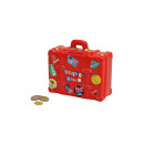 wholesale Gifts & Stationery: Money Box Suitcase with Holiday Ceramic Stickers,