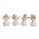 Angel of porcelain, 4 times assorted , 9 cm