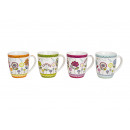 La tazza di porcellana con decorazione floreale, 4