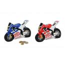 motociclo Spardose di poli, 2- assortito, B18 x