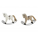 A dondolo cavallo di legno / metallo, 2 volte asso
