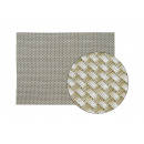 B45 x Platzset in argento di plastica, H30 cm