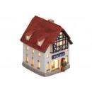 Lantern-ház rendőrség porcelán, B14 x T11 x