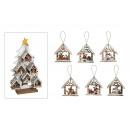 casa Weihnachtsanhänger albero di legno, una speci