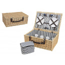wholesale Sports & Leisure: Picnic basket for 4 people from pasture, 25-piece,