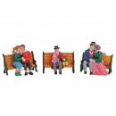 figure di Natale miniatura su sponda di poli, 4-fa