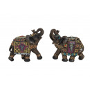 Elephant made of poly, 2 x assorted, B21 x T8 x H1