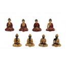 Buddha seduto di poli, assortito, 6 cm