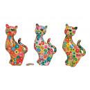 grossiste Cadeaux et papeterie: Tirelire chat fleur en céramique, 3x ...