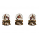 times assorted globe Crib made of glass / poly, 3-