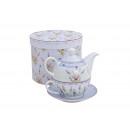 grossiste Maison et cuisine: Teapot Décorateur de lavande de la porcelaine, 3-