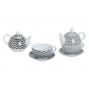 TEA SET-RETRO PORCELLANA 3 pezzi 2-FACH SORT