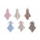 Großhandel Tücher & Schals: Schmusetuch mit Plüschtieren, 6 Farben sortiert, B