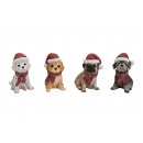 wholesale Home & Living: Dog with Christmas assorted made of poly, 4-way as