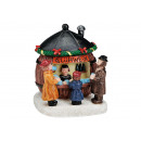 Weihnachtsfigur Barrel Glühweinstand poli, B6 X