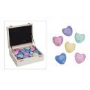 cuore di marmo, di 6 volte assortito, 4 cm