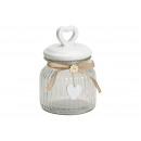 Vasi Cuore di vetro coperchio in ceramica traspare