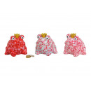 Großhandel Geschenkartikel & Papeterie: Spardose Frosch Blumendekor aus Keramik Bunt 3-fac