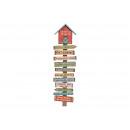 famiglie murali regole di legno, B28 x H96 x T6