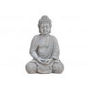 Buddha hellgrau Magnesia 20X17X30CM