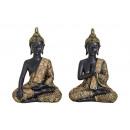 Buddha in nero / oro da poli, 2- assortito,