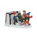 Miniatűr Téli Gyermek labdarúgó jelenetet, B7 x H5