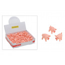 Glücksschwein con pigtail in plastica, 2