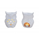 wholesale Fragrance Lamps: Porcelain chandelier Owl in white, B11 x T9 x H