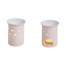 wholesale Fragrance Lamps: Scent lamp stars, perforated white porcelain