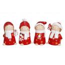 bambino inverno lanterna in ceramica rossa assorti