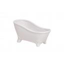 Vasca da bagno, ceramica bianca, B16 x T7 x H9 cm