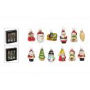 groothandel Huishouden & Keuken: Glazen kersthanger set, 6 stuks, 2 x s