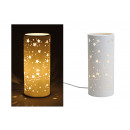 wholesale Lampes: Table lamp Cylinder star made of porcelain, B28 x