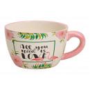 Flamingo Fiore disegno della tazza piatto in ceram