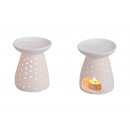 wholesale Fragrance Lamps: Incense lamp, perforated white porcelain, 12 cm