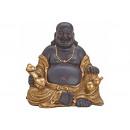 Buddha ÜLÉS BROWN / GOLD POLY 30X20X29CM