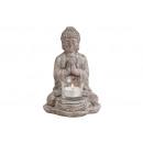 portalume Buddha grigio ceramica, B13 x T12