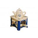 Großhandel Duftlampen: Duftlampe aus Keramik, Herd mit Kanne, B10 x T10 x