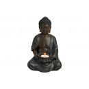 Tealight holder Buddha Brown 1 quarter from Poly,