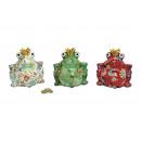 Spardose rana fiore decorazione della ceramica, 3-